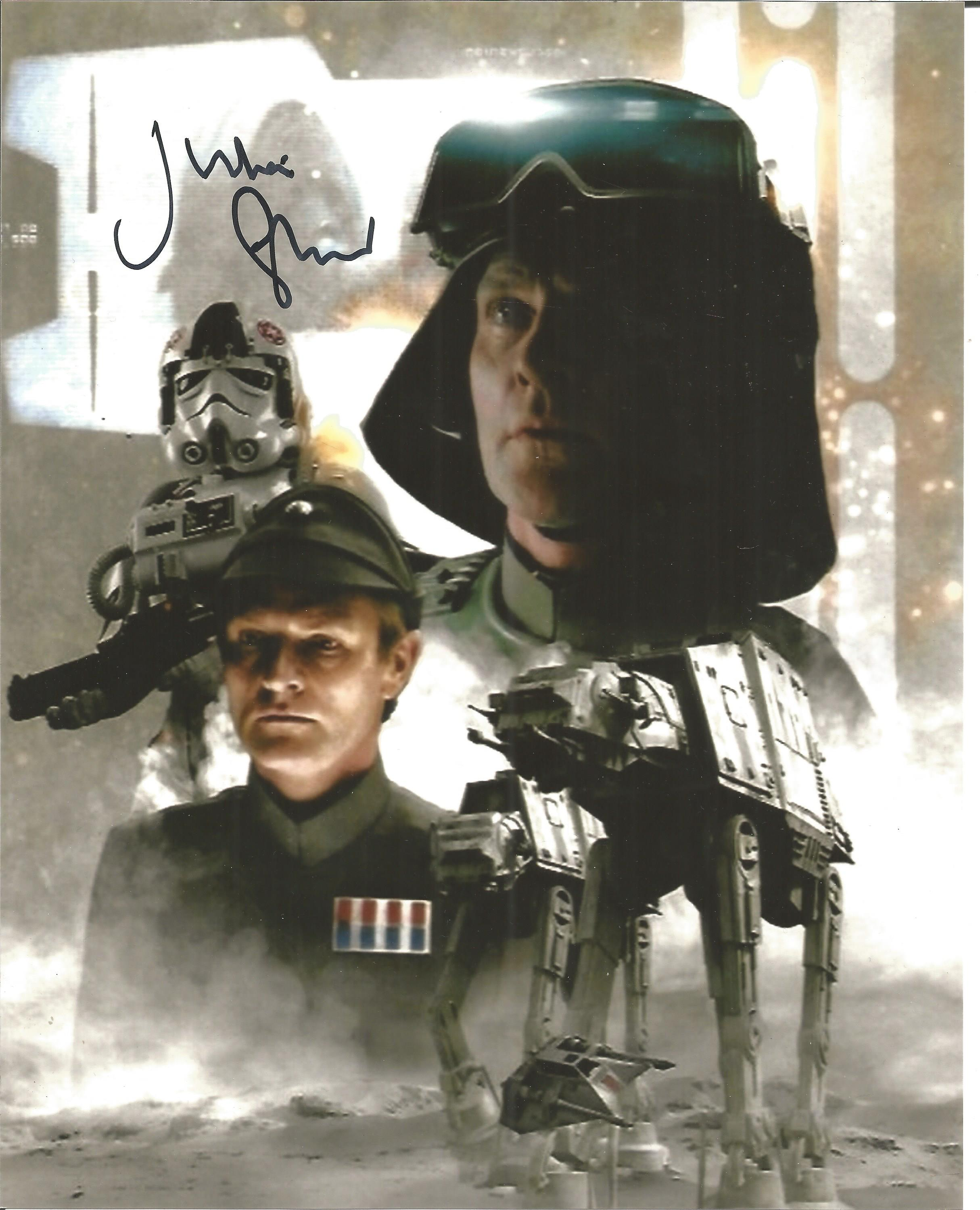 Julian Glover signed 10x8 colour image taken from his time on Star Wars Empire Strikes Back. Good