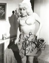Dame Barbara Windsor signed 10x8 black and white photograph pictured during her time playing in