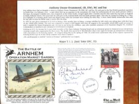WW2, Battle of Arnhem signed FDC signed by Colonel Patrick de Burgh, Colonel J.l Waddy, Anthony