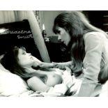 007 Bond girl. Bond girl Madeline Smith signed topless 8x10 photo. From the film Lesbian Vampire