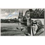 Great War pilot Hans Joachim von Hippel signed 5x3 photo, he served with Jasta 5 from December 22,