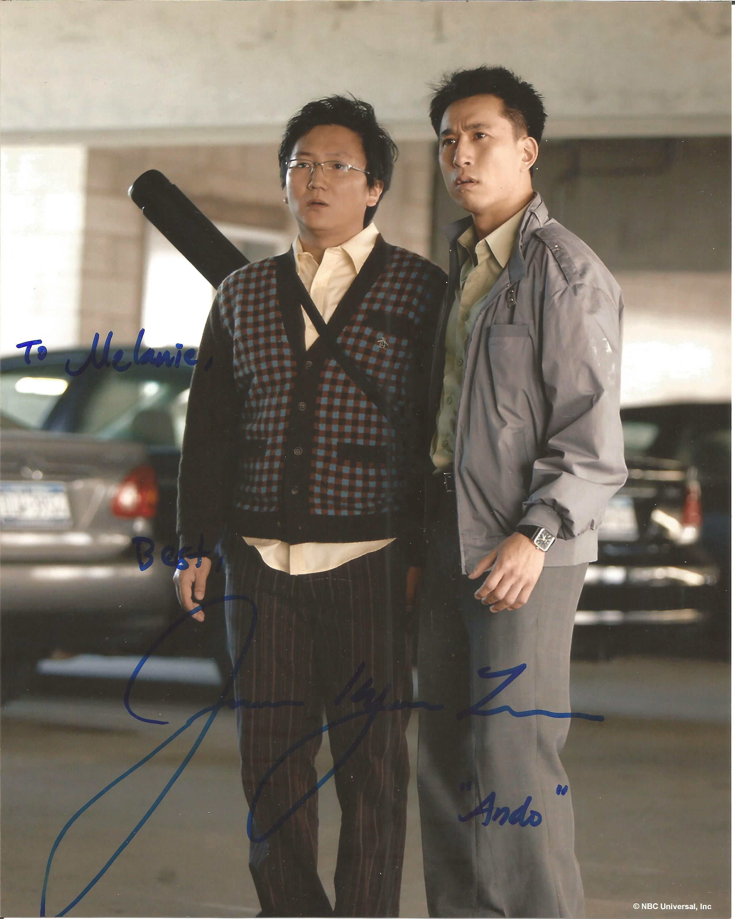 James Kyson signed 10x8 colour photo. Dedicated. Good Condition. All autographs come with a. Good