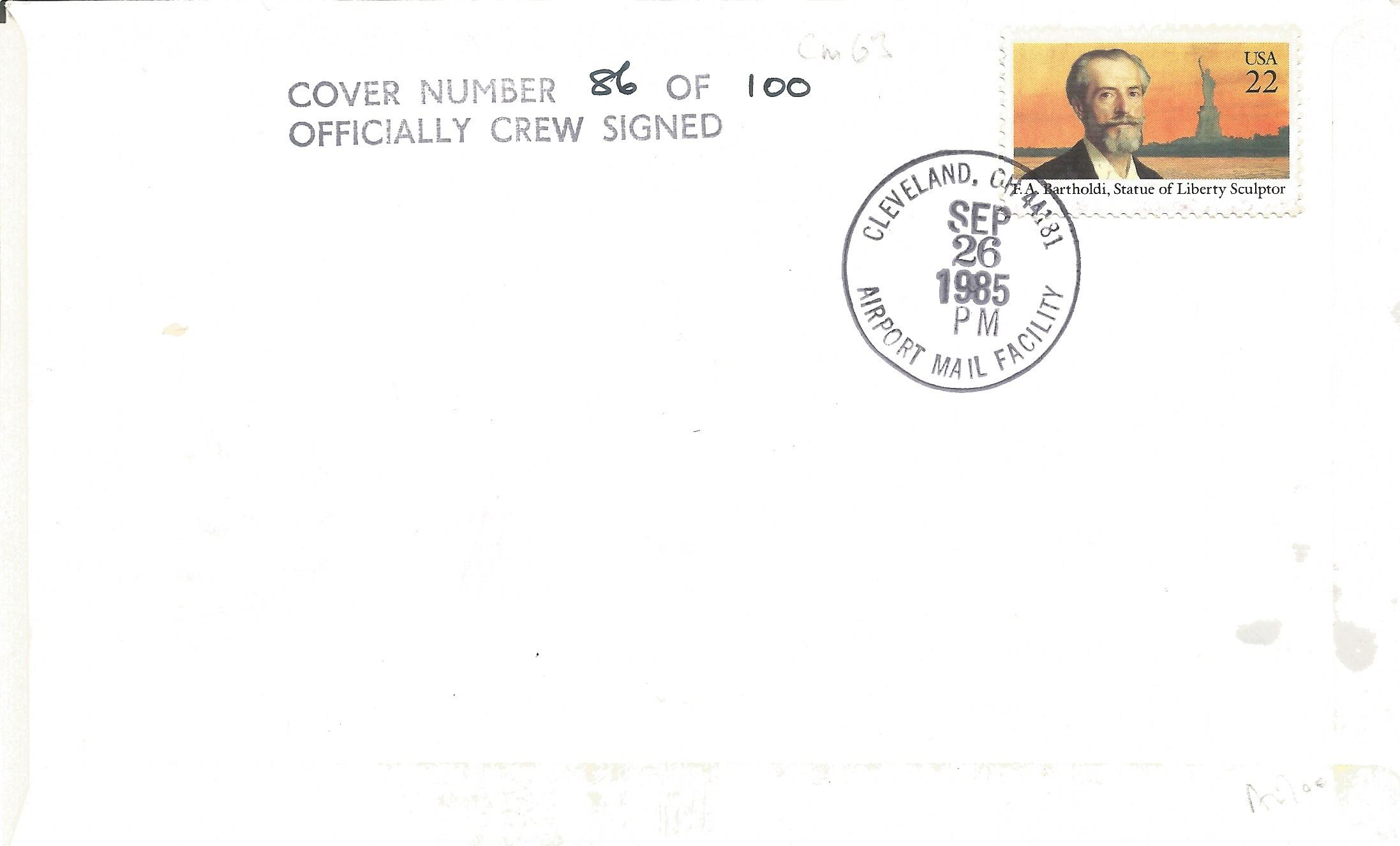 Rare Official British Airways' Concorde 1st Flight- London- Cleveland Flown Cover Signed by Three - Image 2 of 2