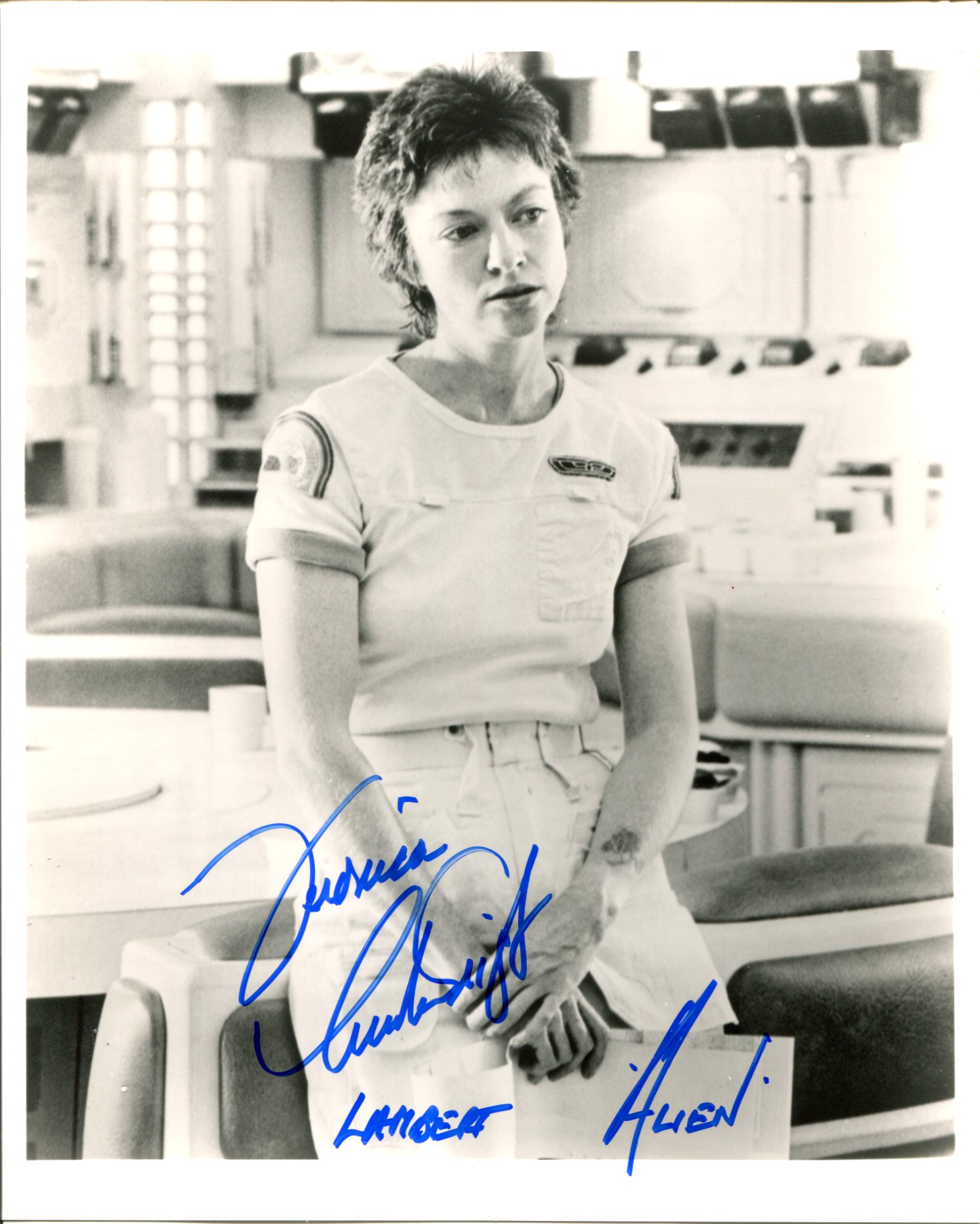 Alien. science fiction horror movie photo signed by actress Veronica Cartwright as Lambert. Good