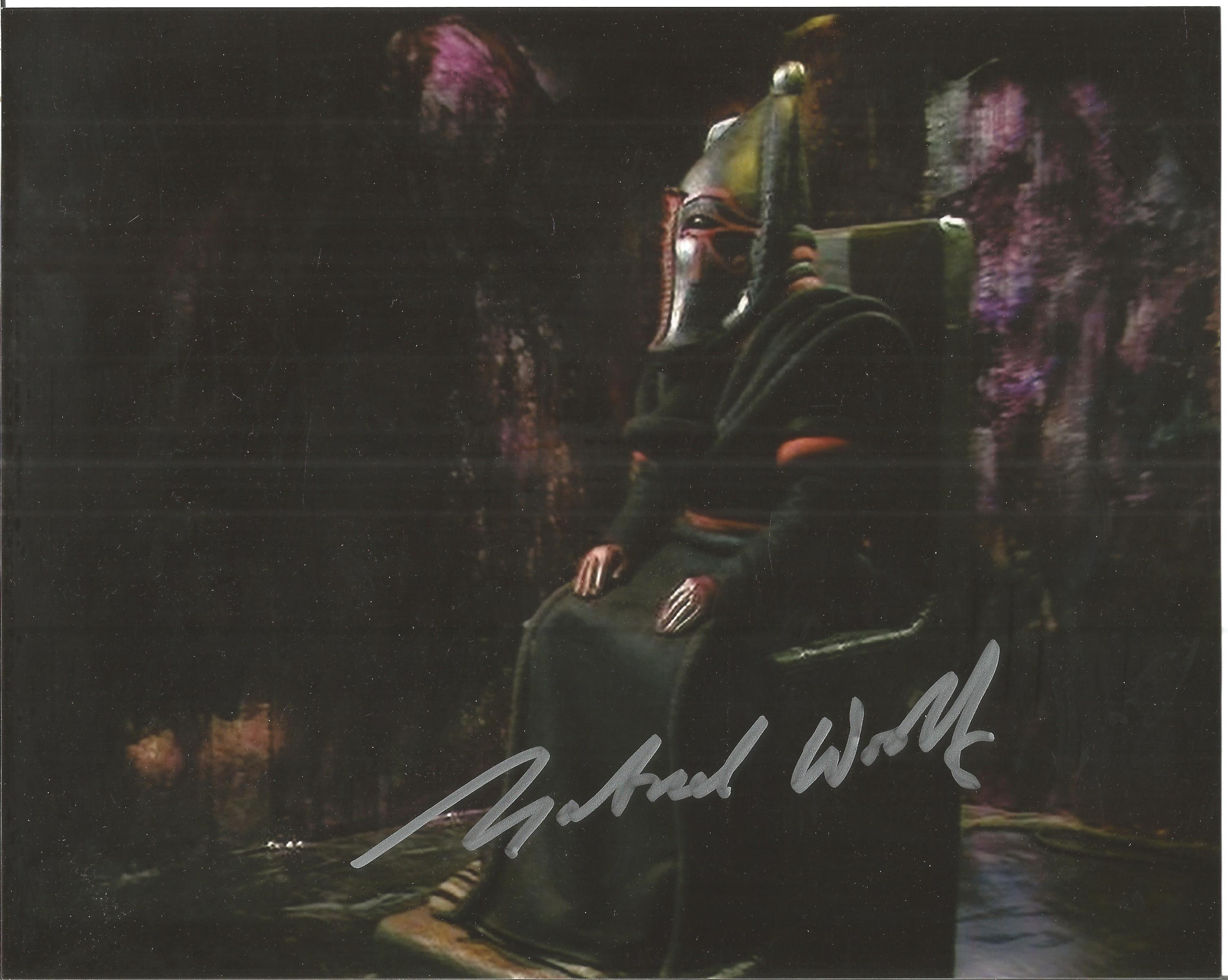 Gabriel Woolf Doctor Who Pyramids of Mars signed 10x8 colour image. Series aired in November 1975.