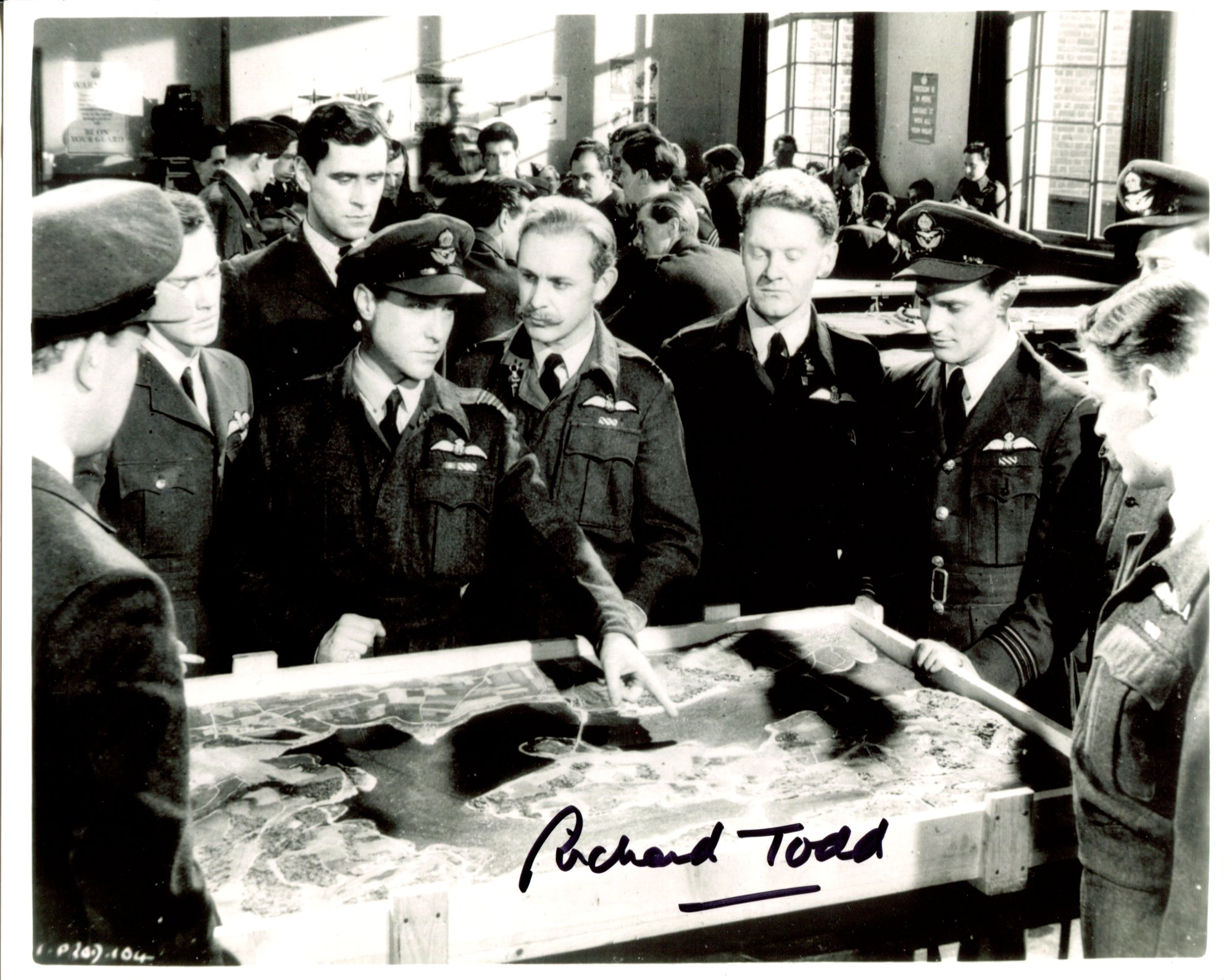 The Dambusters. Wonderful 8x10 photo from the war movie 'The Dambusters' signed by the late