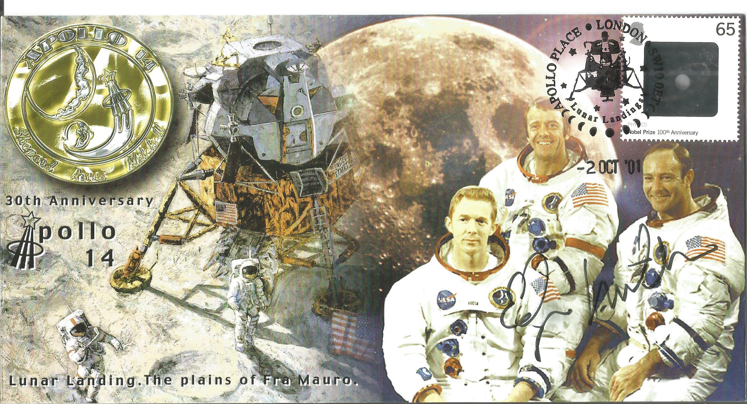Space Moonwalker Dr Edgar Mitchell NASA Astronaut signed 2001 Apollo 14 Limited Edition cover. As