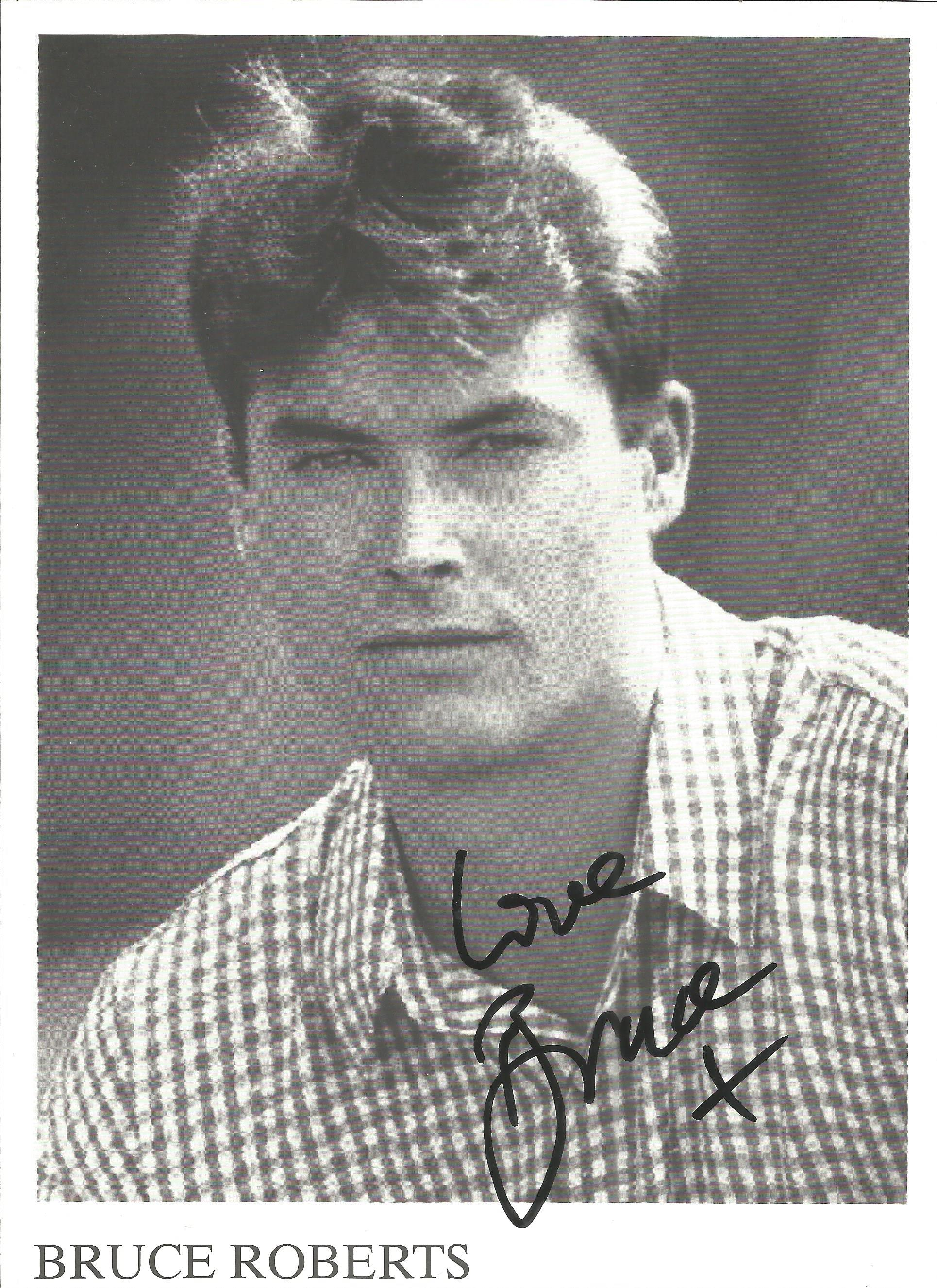 Bruce Roberts signed 8x6 black and white photo. American singer and songwriter. Good Condition. Good