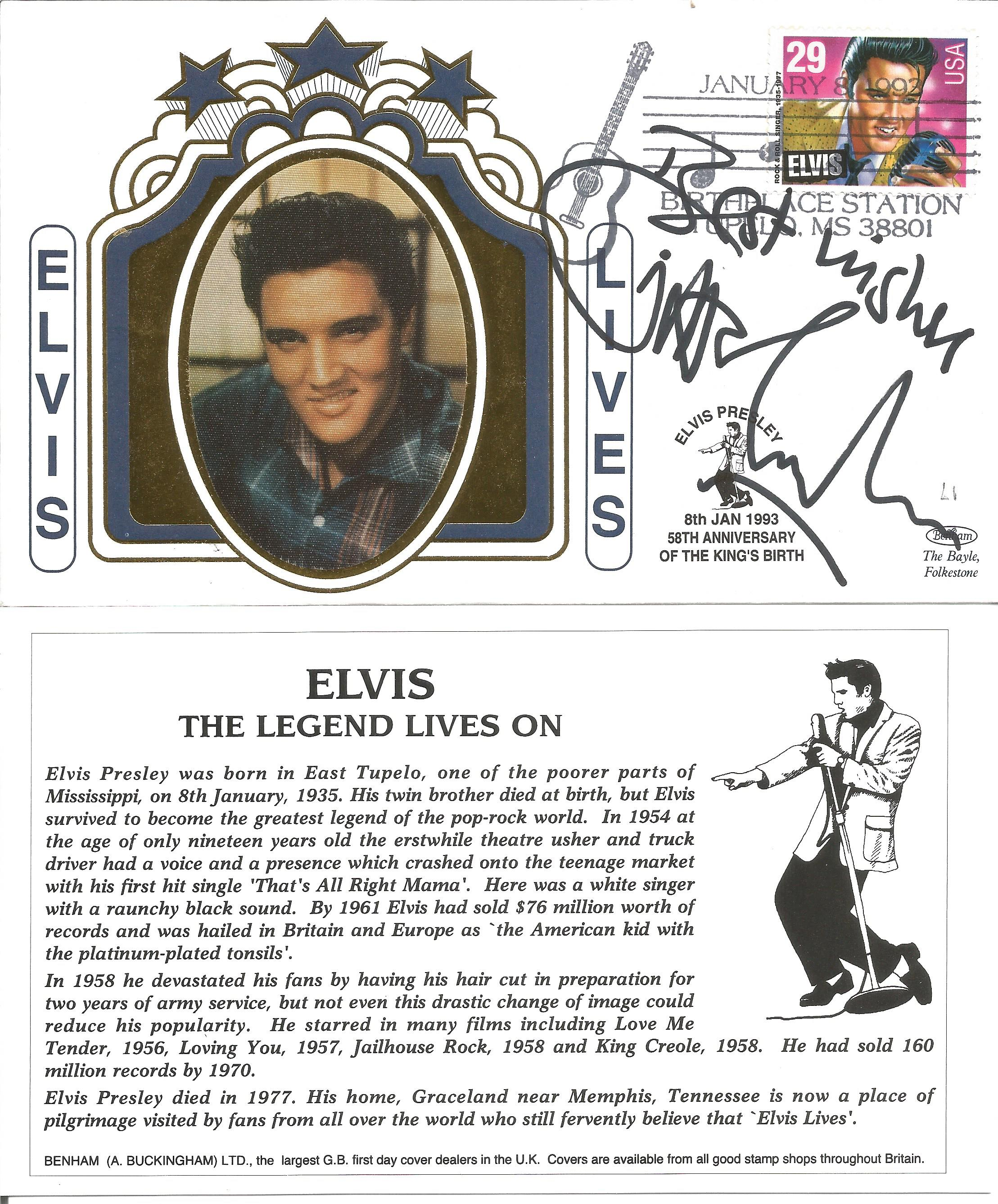 Gilbert O'Sullivan signed first day Elvis Presley cover, celebrating the 58th anniversary of The