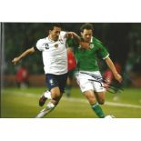 Football Kevin Kilbane signed 12x8 colour photo pictured in action for the Republic of Ireland.