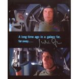 Star Wars 8x10 A long time ago, far far away quote photo signed by actor Julian Glover (General