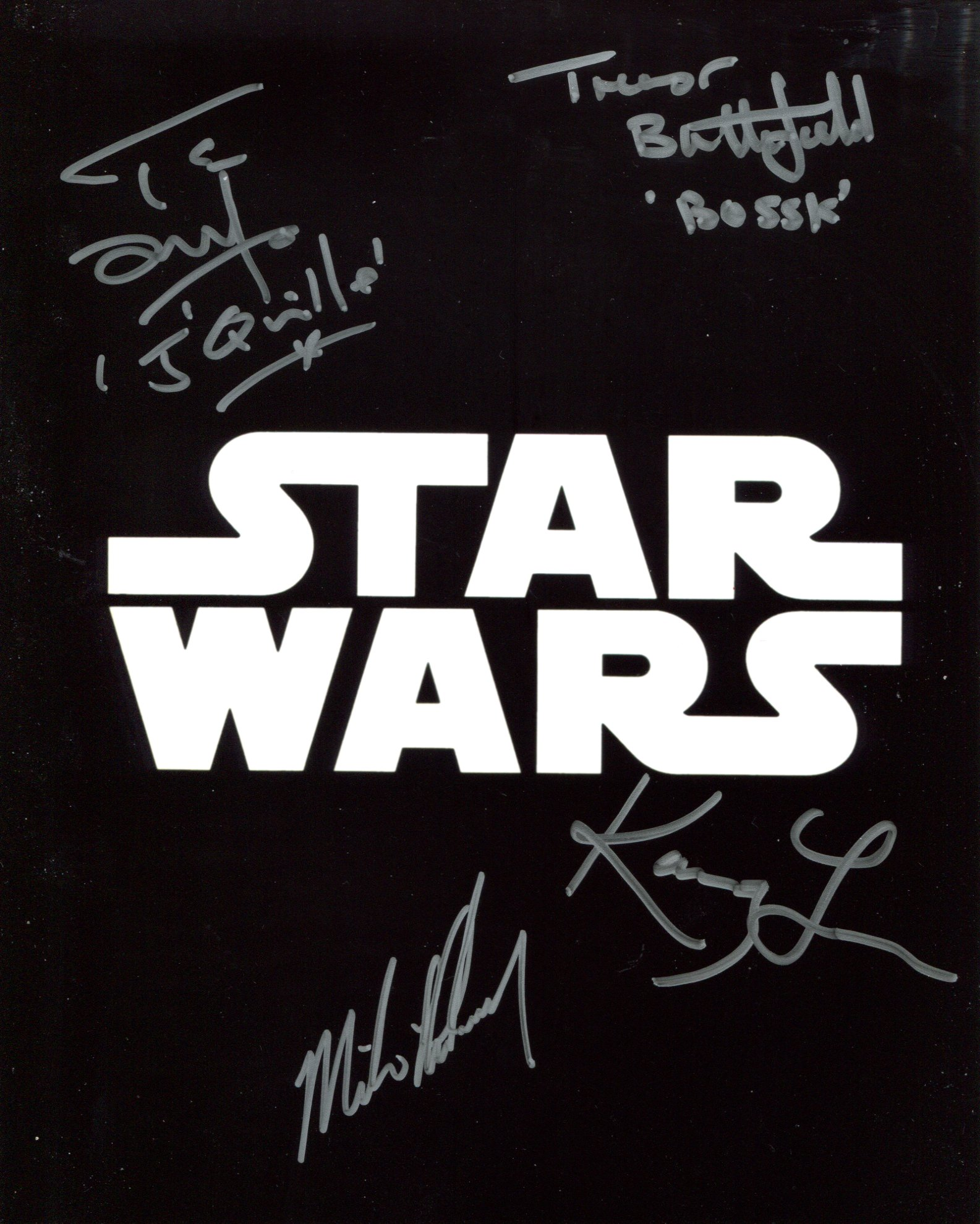 Star Wars multi-signed 8x10 movie photo signed by FOUR actors in Trever Butterfield, Michael