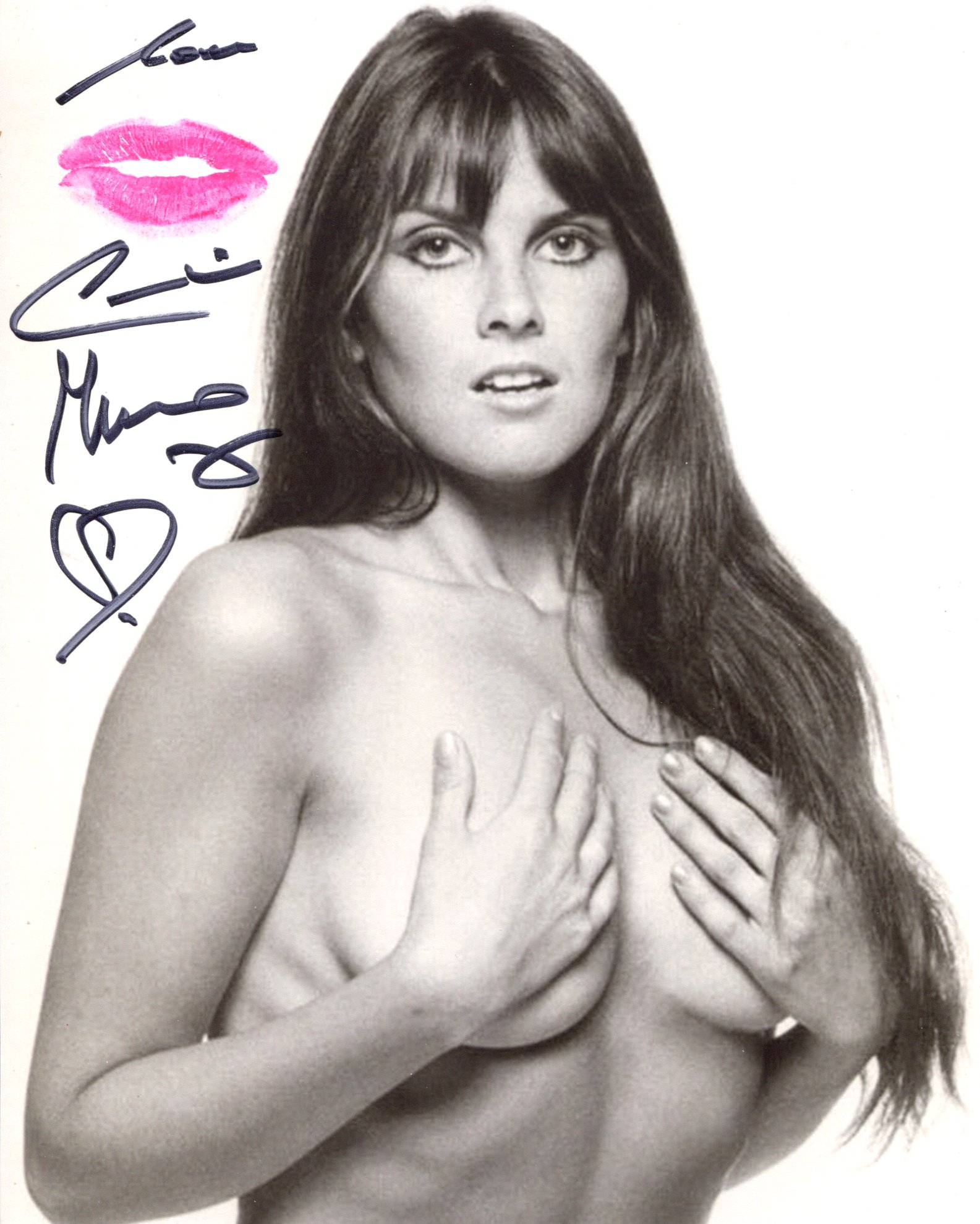 007 Bond girl. The Spy Who Loved Me actress Caroline Munro signed 8x10 photo in sexy pose, she has