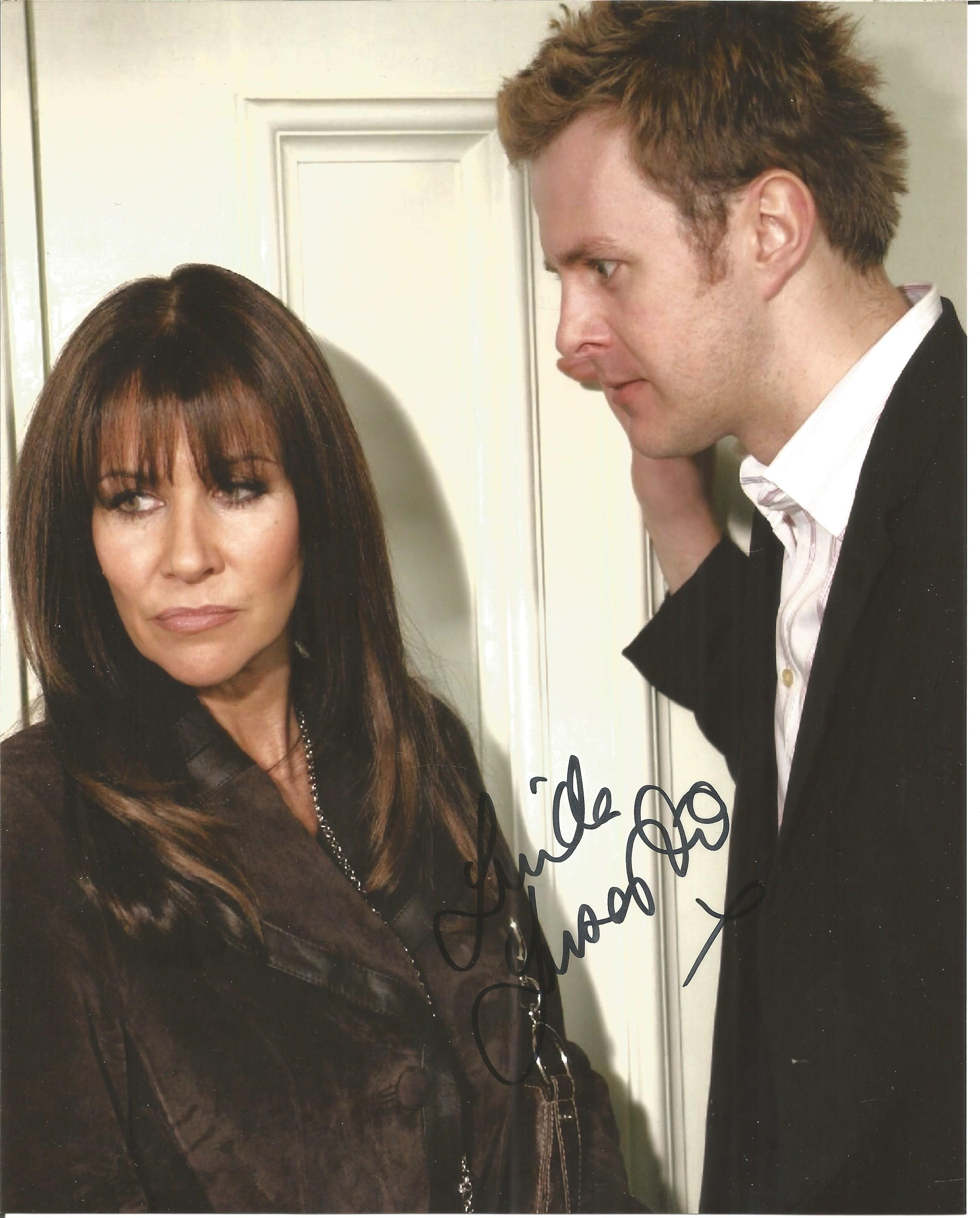 Linda Lusardi signed 10x8 colour image. Image is from Linda's role on British Soap Coronation street