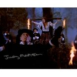 Twins of Evil horror movie photo signed by actress Judy Matheson. Good condition. All autographs