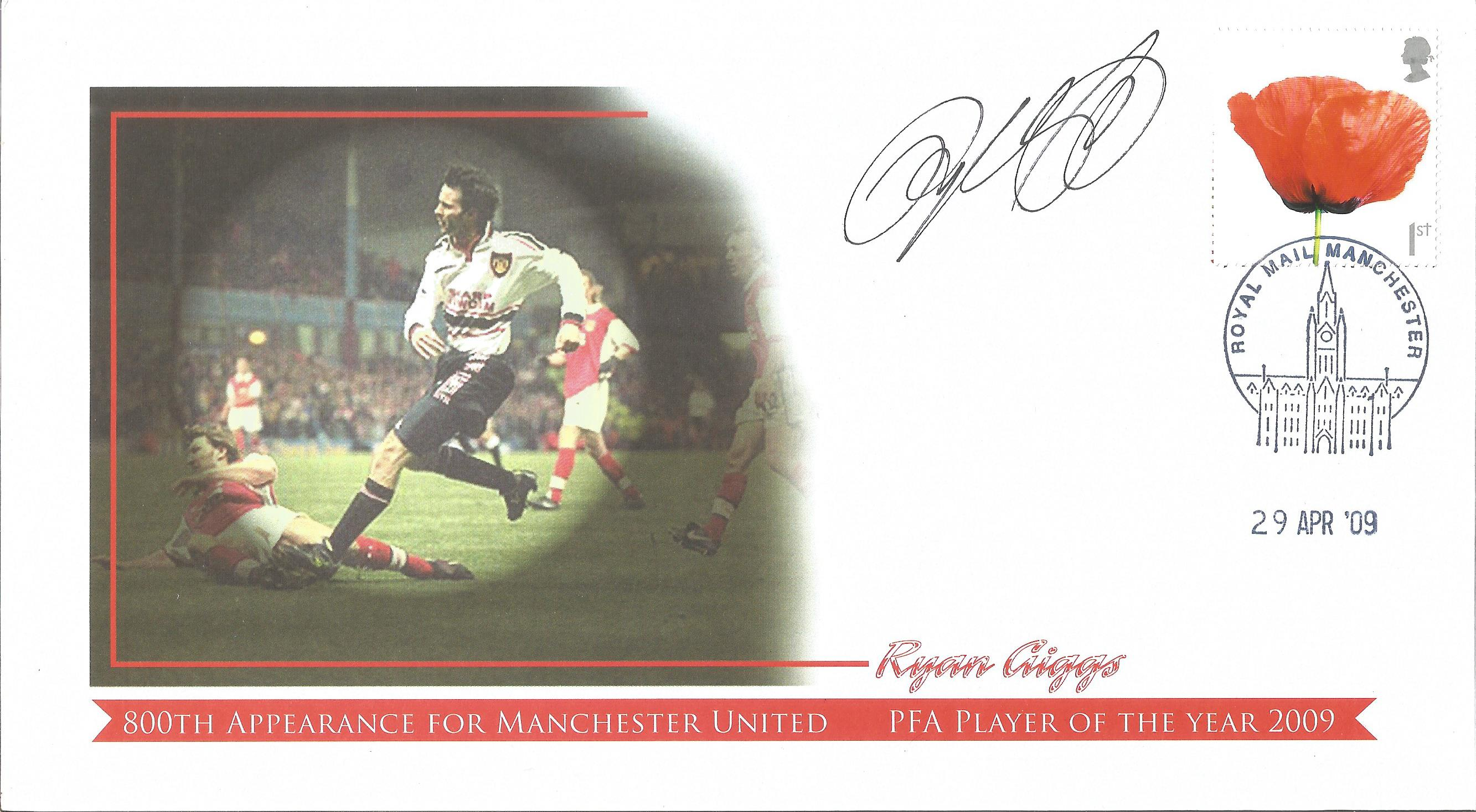 Ryan Giggs signed 2009 Internetstamps Cover. Good condition. All autographs come with a