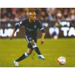 Football Fabian Delph signed 10x8 colour photo pictured in action for Manchester City. Fabian