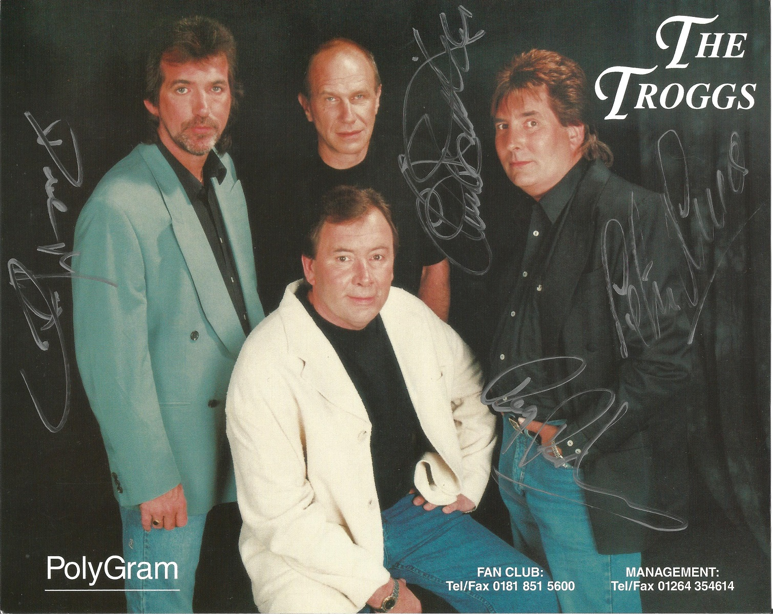 THE TROGGS Rock Band signed 8x10 Polygram Promo Photo . Good condition. All autographs come with a