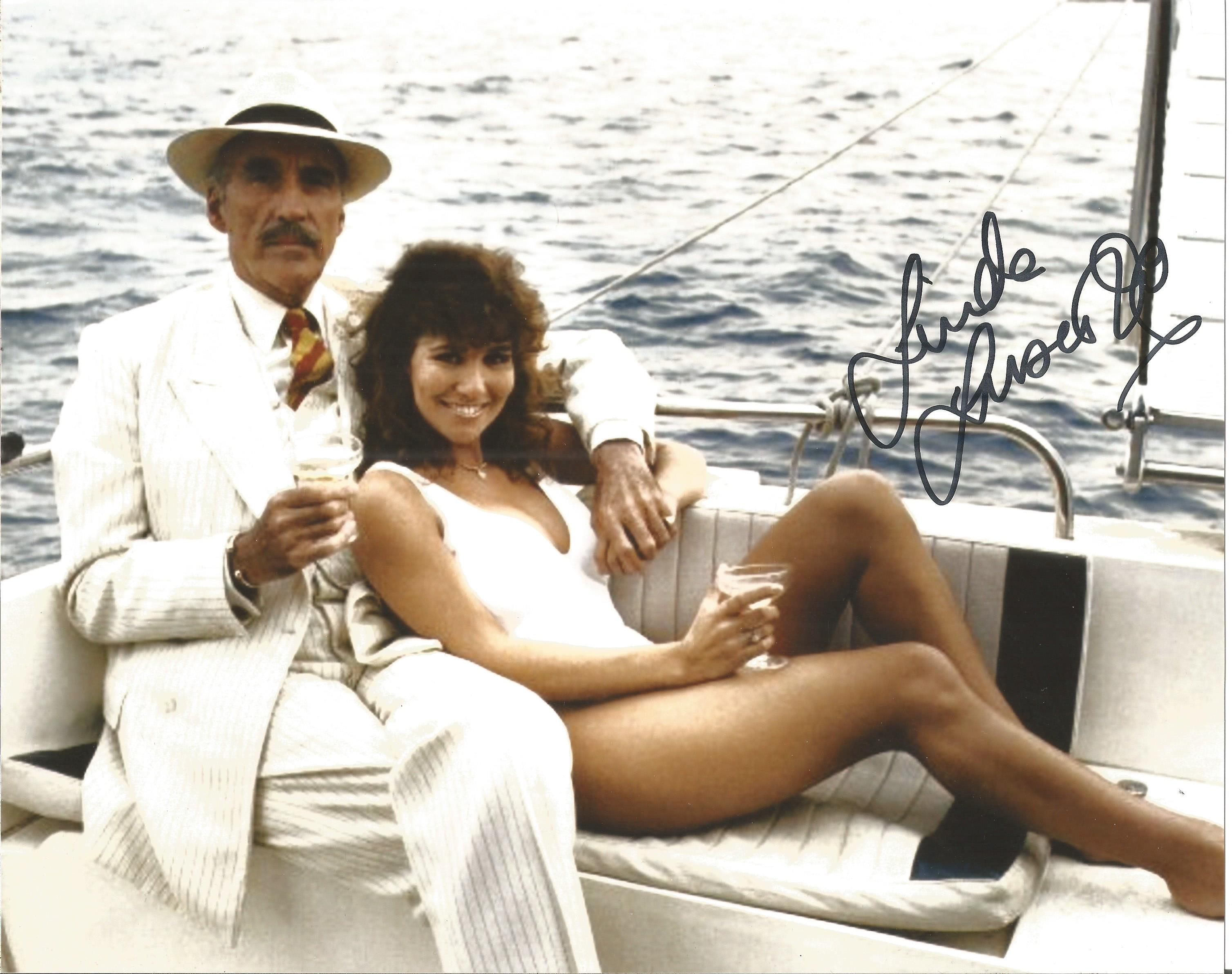 Linda Lusardi signed 10x8 colour image. Linda was famous for her acting, tv presenting and former