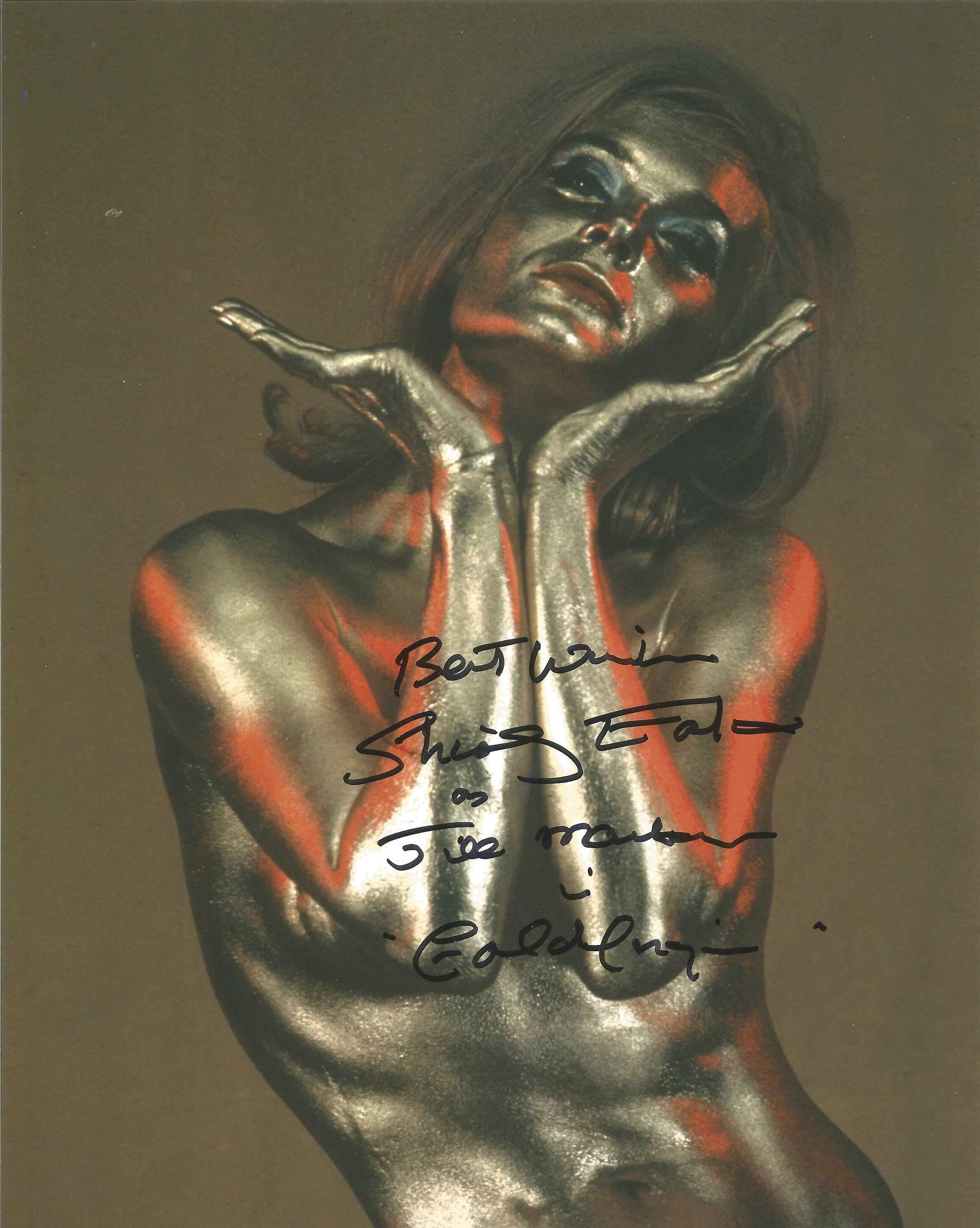 Shirley Eaton signed 10x8 black and white photograph pictured during her role as iconic Bond Girl.