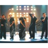 Ritchie Neville, Scott Robinson and Abz Love Signed 8x10 colour photograph , band members from the
