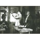 Edward Fox signed 10x8 Black and White image. This tall blond actor is best known for playing