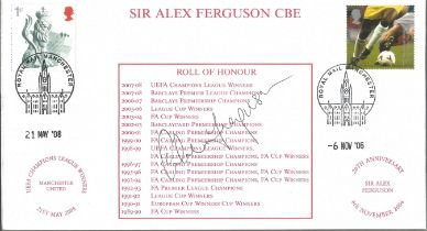 Sir Alex Ferguson signed Internetstamps 2003 FDC. Good condition. All autographs come with a