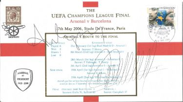 Thierry Henry and Arsene Wenger signed Internetstamps official 2006 UEFA Champions League final