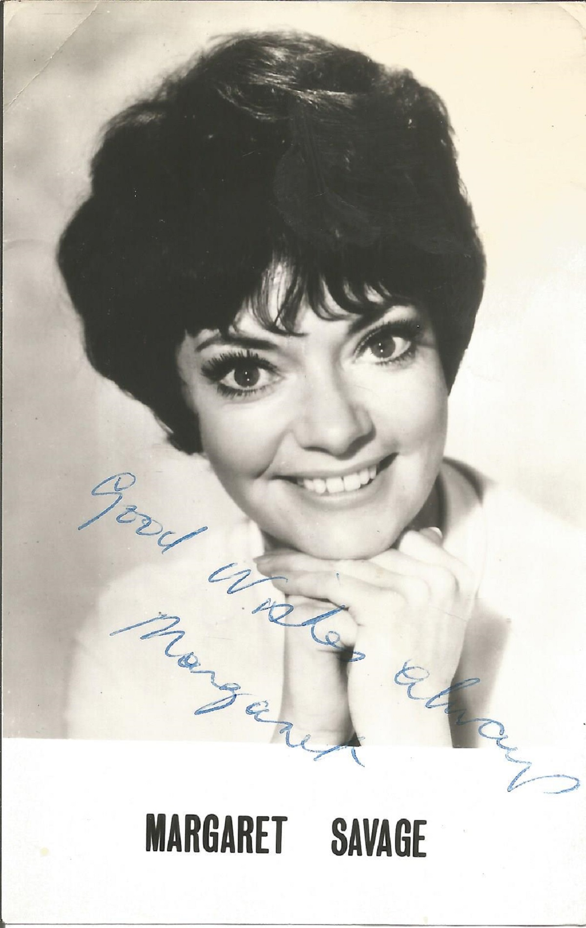 Margaret Savage signed 6 x 4 inch b/w photo. Good Condition. All autographs come with a. Good