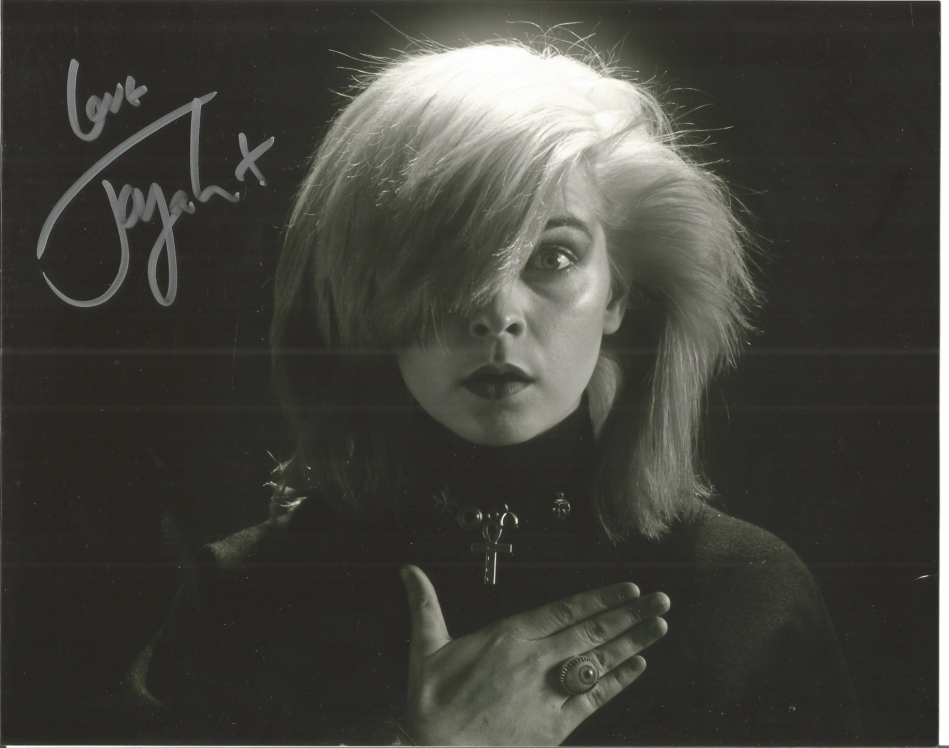 Toyah Wilcox signed 10x8 black and white image. Toyah is a English musician, actress and