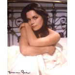 All Allo 8x10 comedy series photo signed by actress Francesca Gonshaw who played Maria in the