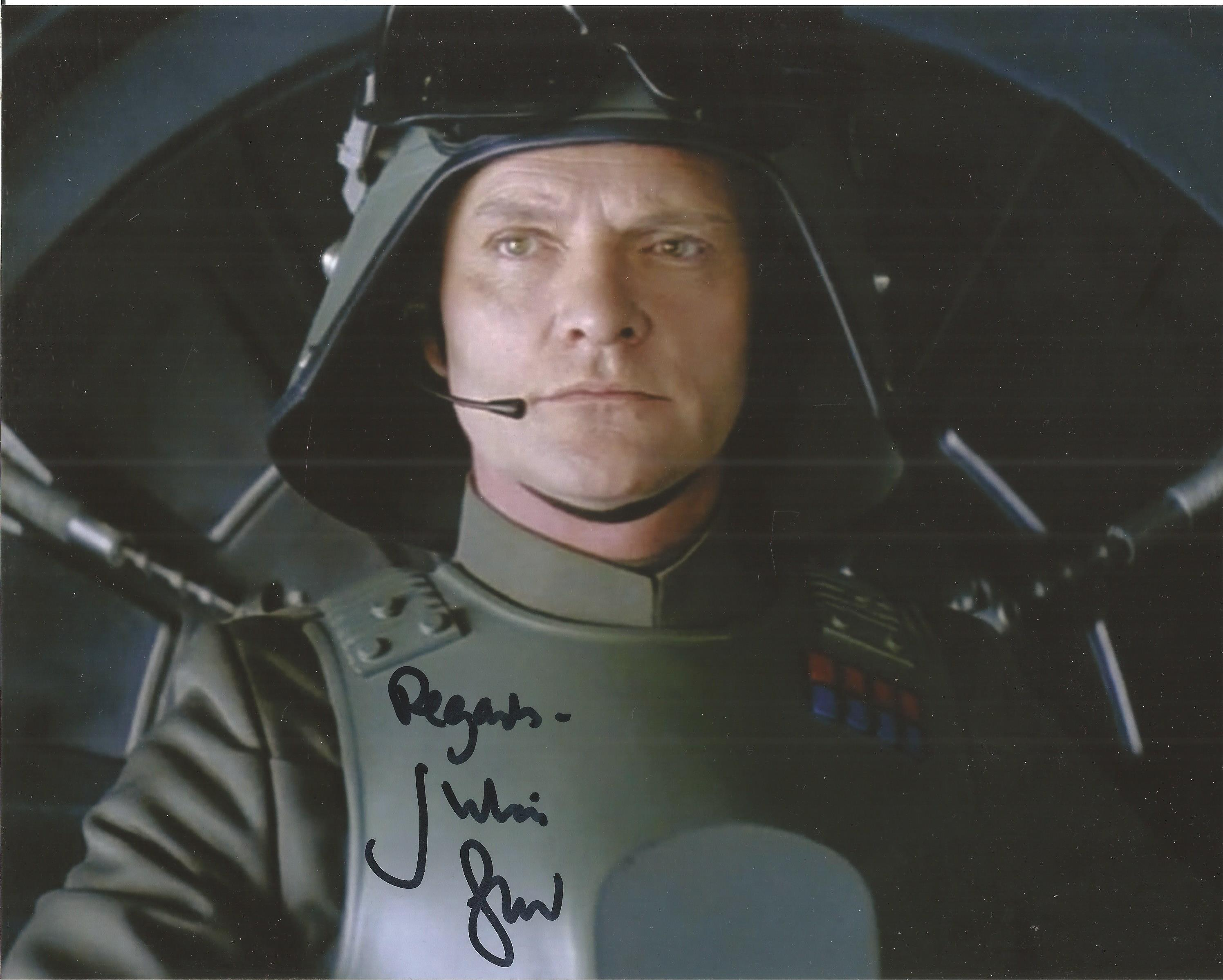 John Leeson signed 10x8 colour image. Taken from John's role as popular character K9 in Doctor
