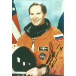 Valeri Tokarev Russian Soyuz Cosmonaut signed 6 x 4 colour photo. Tokarev travelled to space