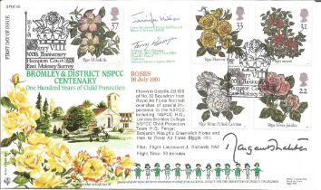 FDC to commemorate 100 years of child protection. Postmark 16.07.1991. Signed by commanding