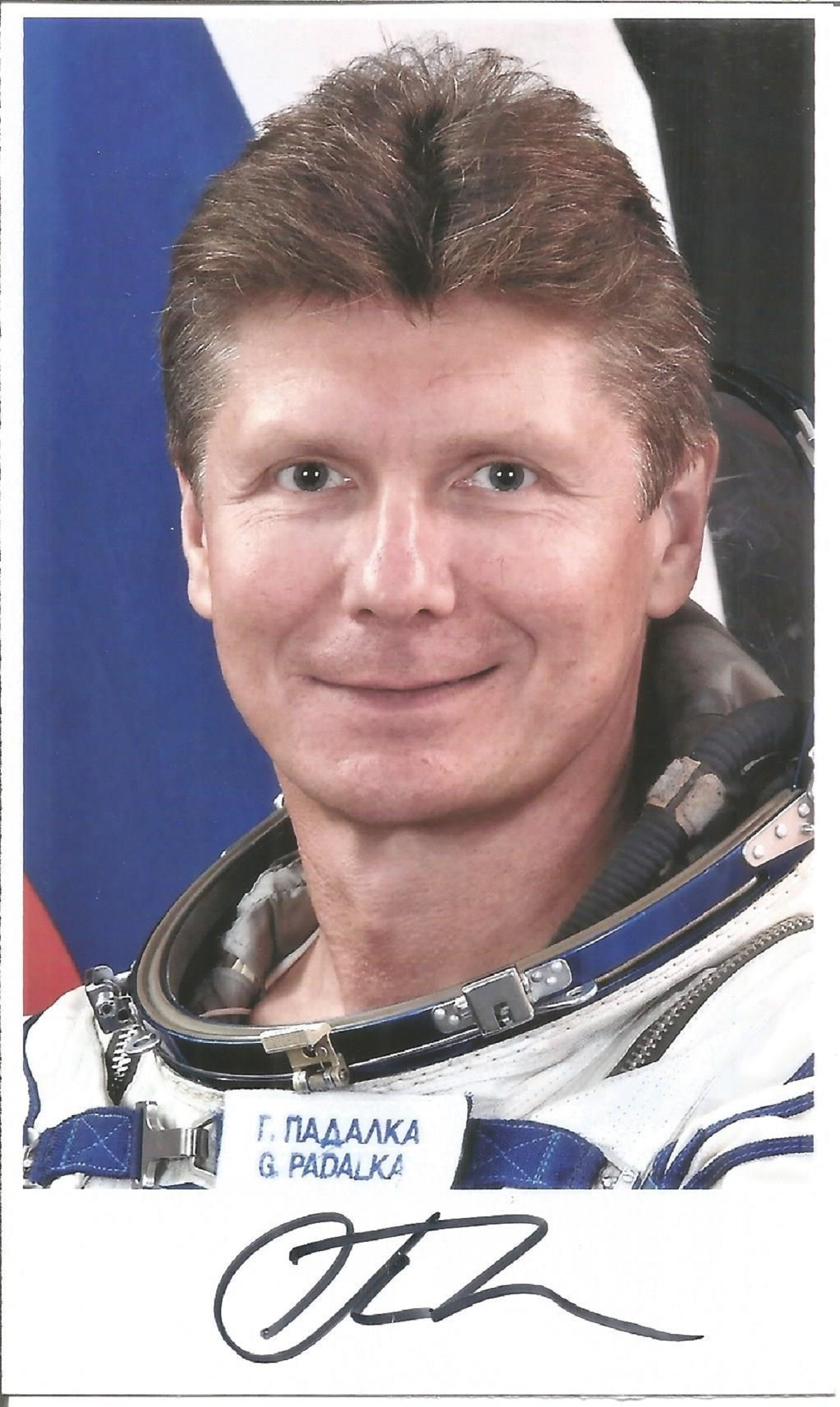Gennady Padalka, Russian Soyuz Cosmonaut signed 6 x 3 colour photo. Padalka is a Russian Air Force