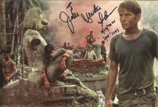 Martin Sheen signed and dedicated 12x8 colour photograph pictured during his time as lead role- U.S.