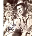 Hayley Mills. Nice 8x10 movie scene photo signed by TV and Film star Hayley Mills. Good condition.