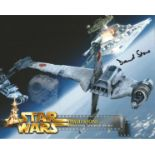 David Stone signed 10x8 colour promo photo featuring a scene from Star Wars movie. Good condition.