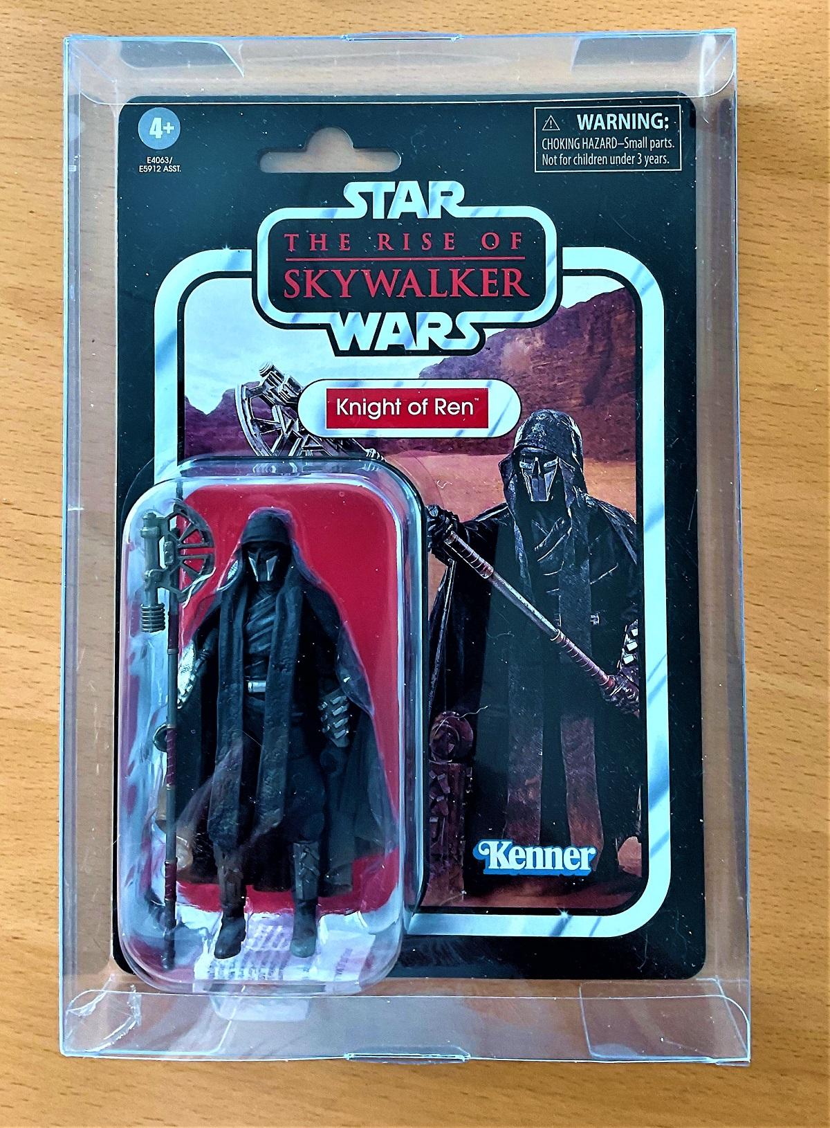 Star Wars, miniature action figure of Knight of Ren taken from Star Wars; The Rise of Skywalker.