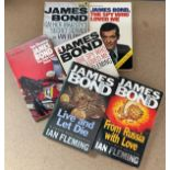 James Bond collection of paperback books, includes- The Spy Who Loved Me, From Russia With Love,