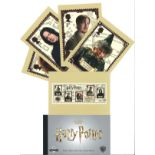 Harry Potter collection of 18 PHQ cards and a stamp presentation pack. These lovely postcards