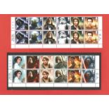 Star Wars collection of stamp sheets containing 24 beautifully created stamps from the Star Wars