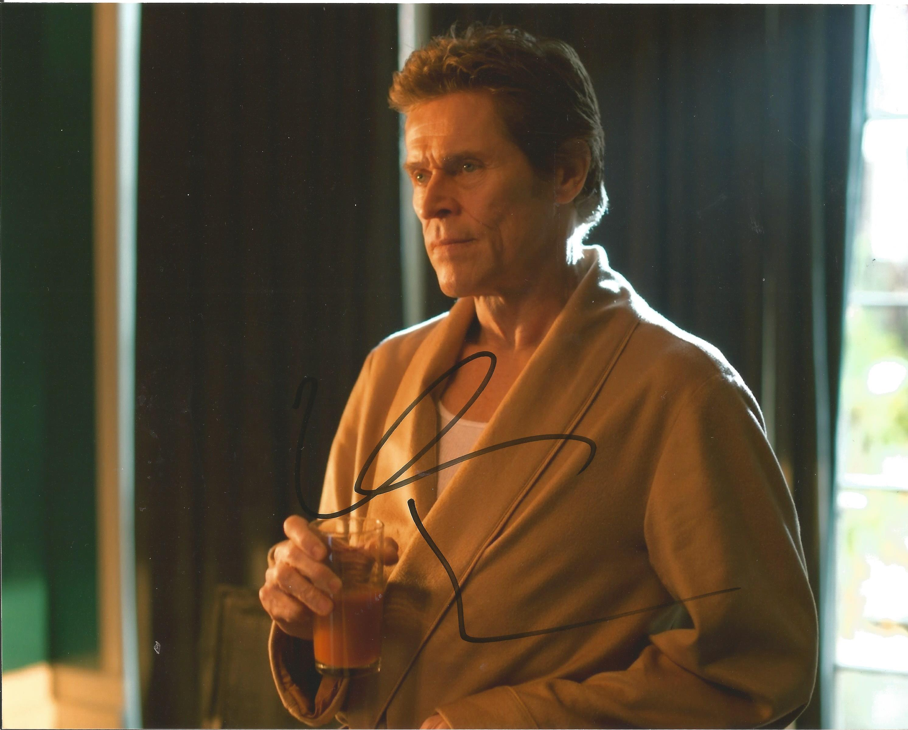 Willem Dafoe signed 10x8 colour photograph. Dafoe was well known for his role as Green Goblin in