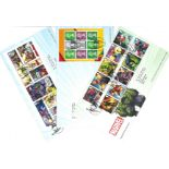 Marvel collection of PHQ cards, Presentation Packs and FDCs. This consists of 18 postcards