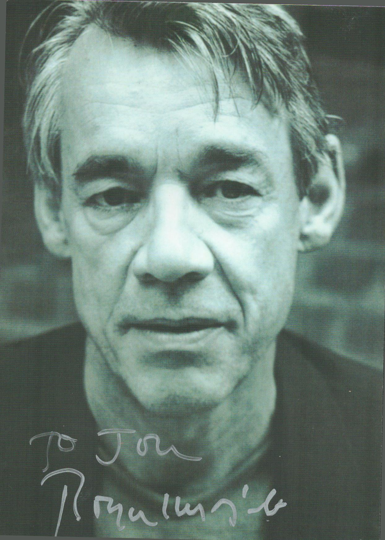Roger Lloyd-Pack signed and dedicated 6x4 black and white photograph. This British acter is best