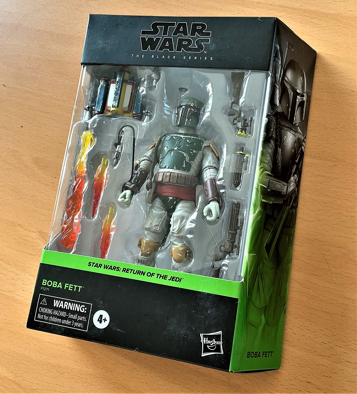 Star Wars, The Black Series miniature action figure of Boba Fett taken from Star Wars; Return of the