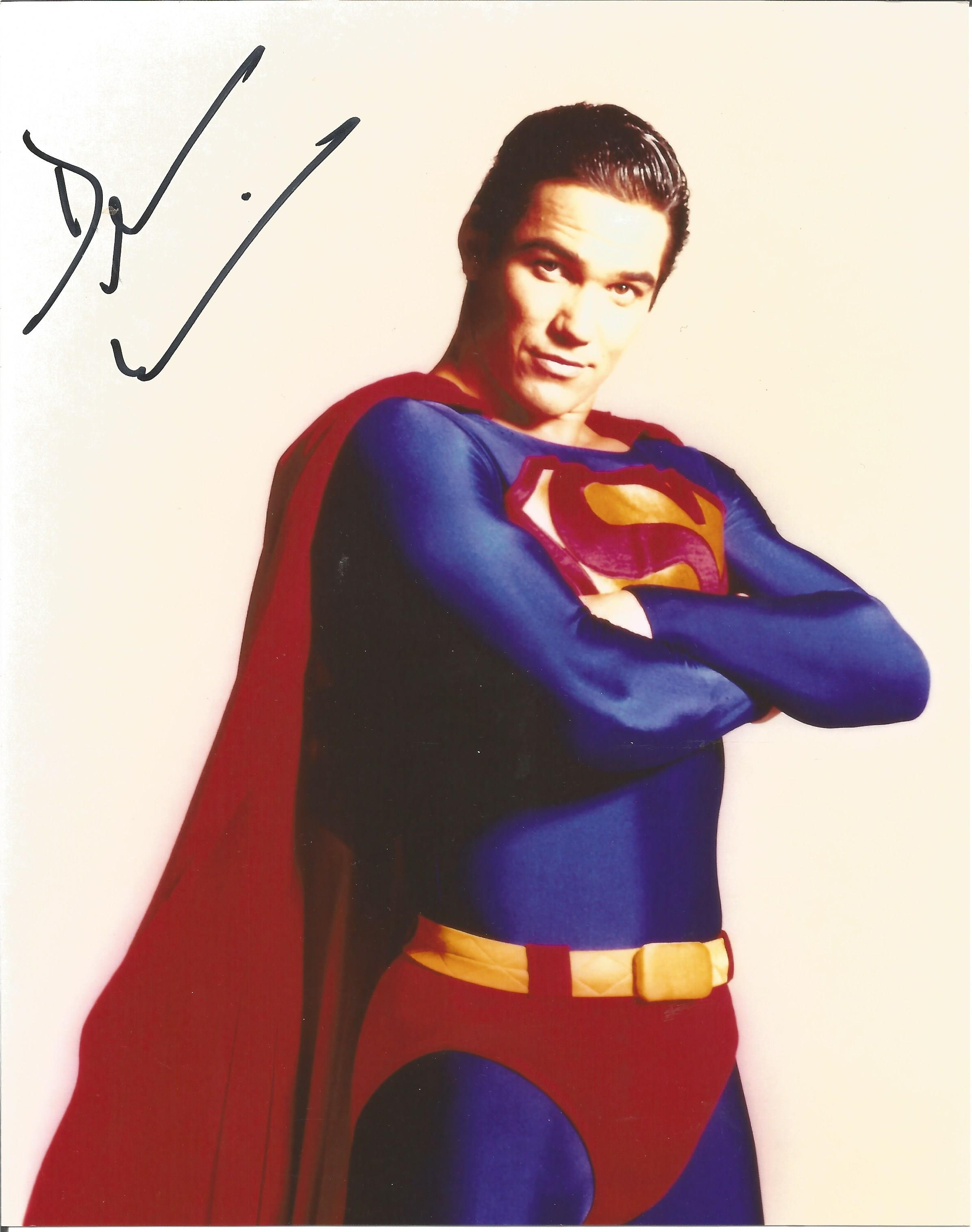 Dean Cain signed 10x8 colour photograph taken during his time playing Clark Kent, Superman. Good