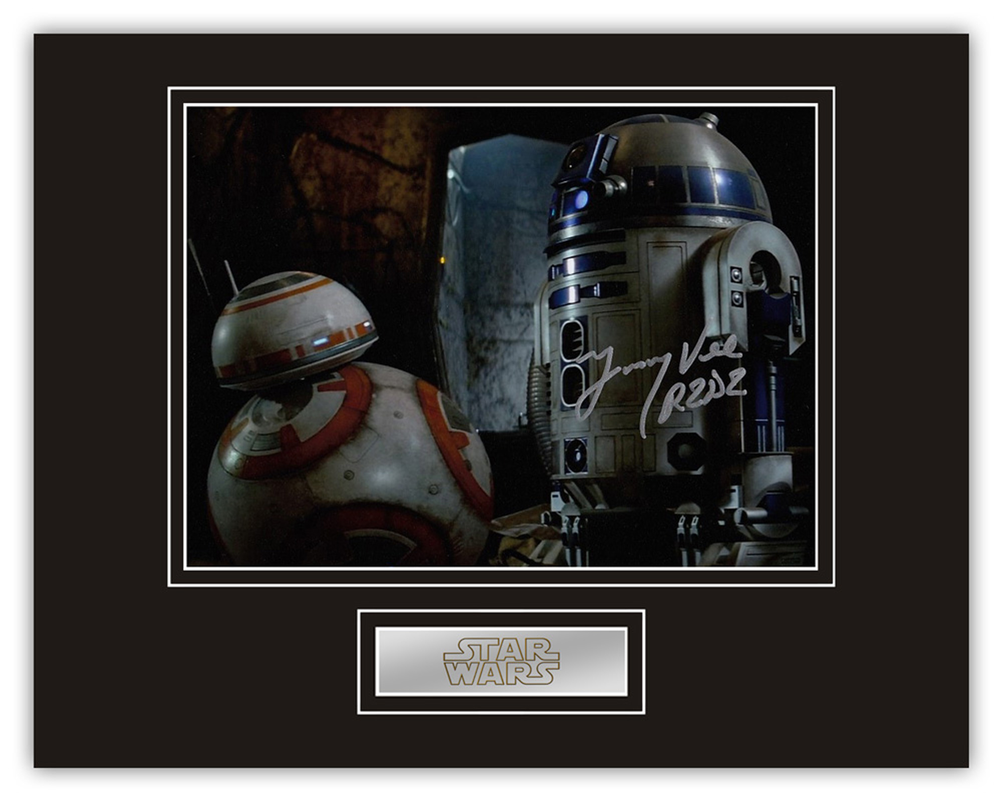 Stunning Display! Star Wars Jimmy Vee hand signed professionally mounted display. This beautiful