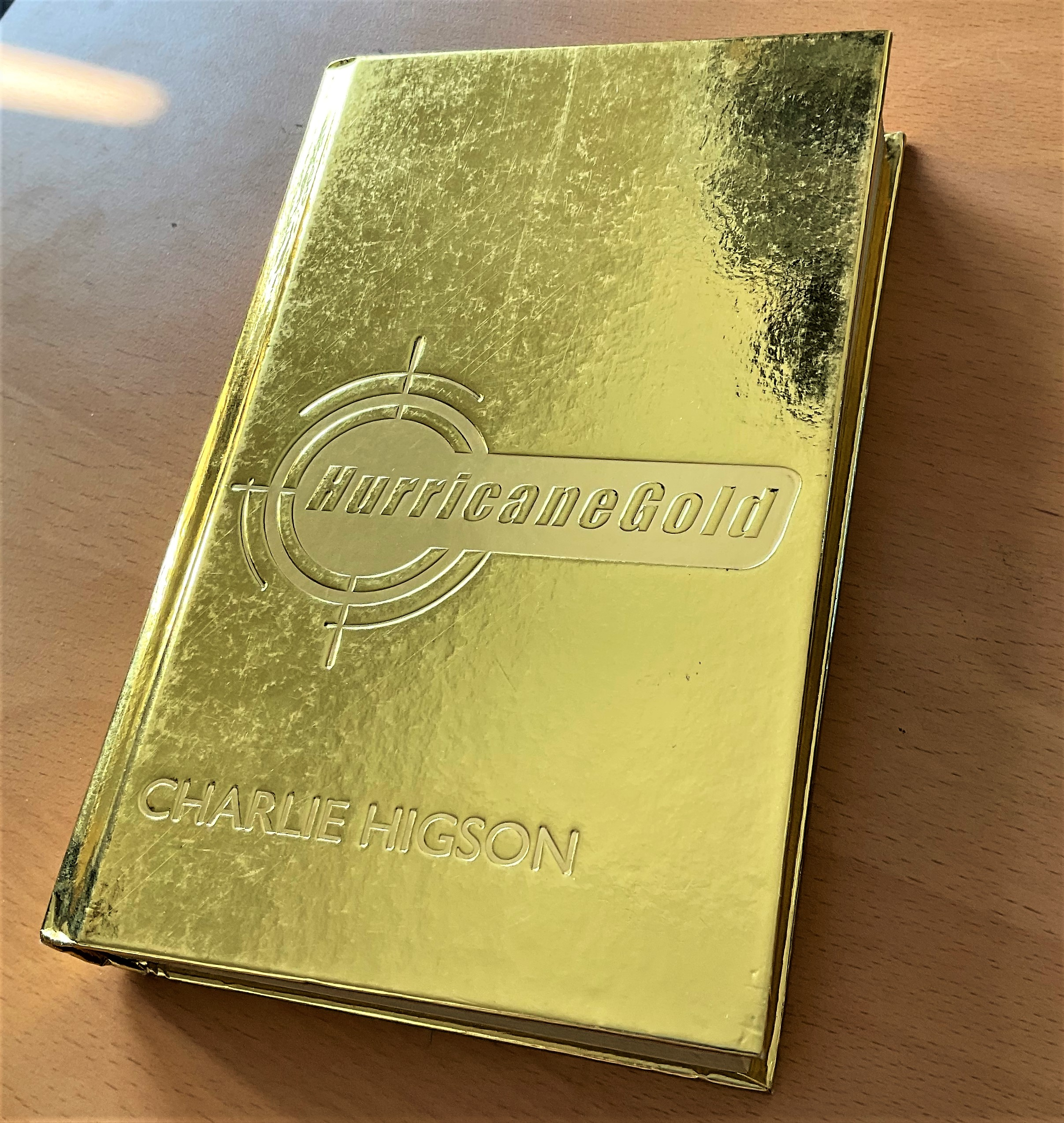 Charlie Higson signed hardback gold leafed book titled Hurricane Gold. This beautiful book has a - Image 2 of 3