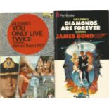 James Bond collection of two paperback books including Diamonds are Forever, Her Majesty's Secret